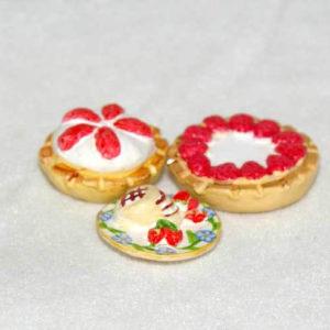 Pie desserts set of 3