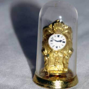 Dome clock gold