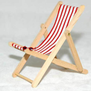 Deck chair  only  Red.