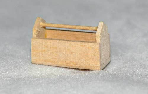 Pine half scale tool box or embroidery box