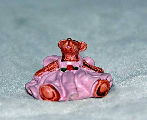 Teddy in dress ornament