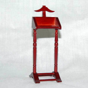 Mahogany mens clothes stand