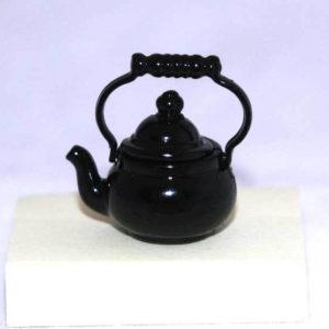 Black metal kettle