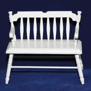 Garden Seat  - white timber