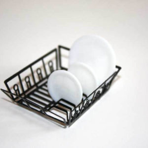 Dish rack, black