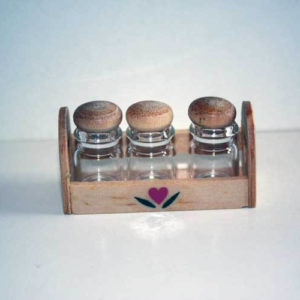 Glass canisters set 3