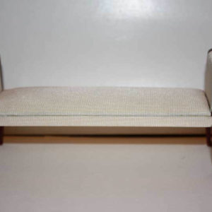 Bedroom sofa, cream silk