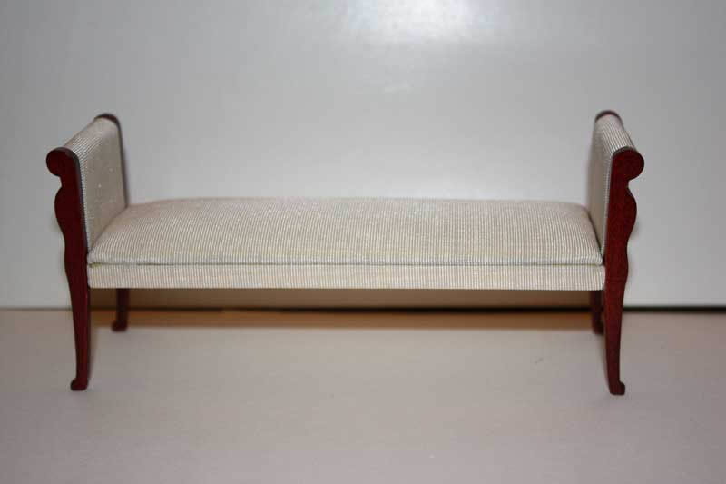 Bedroom sofa, cream silk