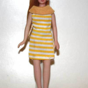 Lady - yellow-white striped dress