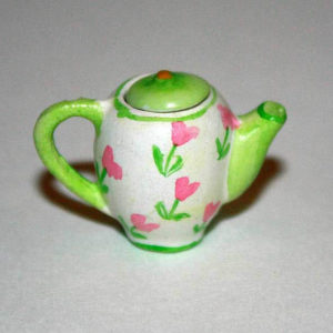 Teapot, green removable lid