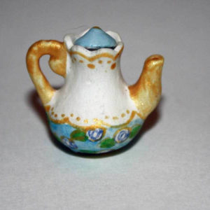 Tea or coffee pot, yellow, removeable lid