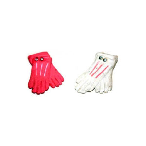 Gloves - 2prs pink and white