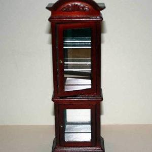 Mahogany mirrored curio cabinet