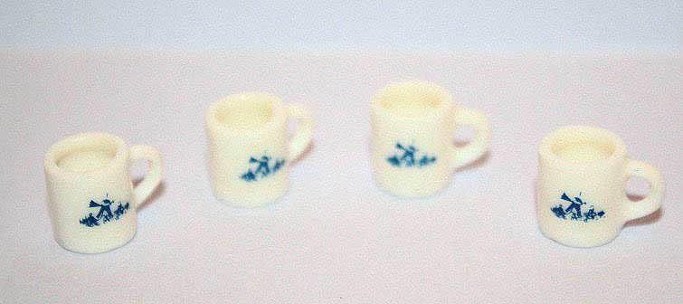 China  mugs, white set 4