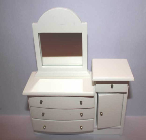 Dressing table, white painted timber