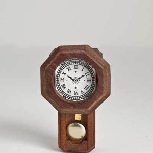 Old fashioned pendulum wall clock
