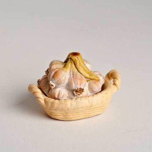 Garlic  topped tureen dish