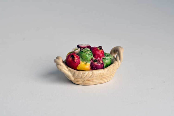 Fruit  topped tureen dish