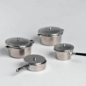 Saucepans  set 4 piece  silver