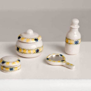 Bedroom/bathroom accessories, porcelain
