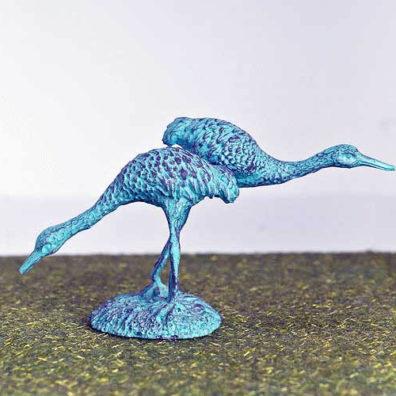 Turquoise crane birds