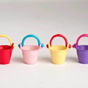 4 piece set coloured buckets