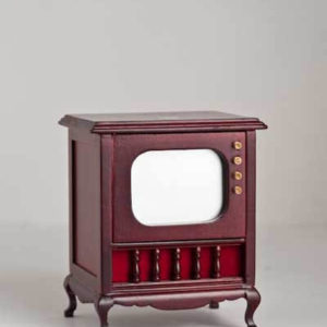 Old fashioned mahogany television set