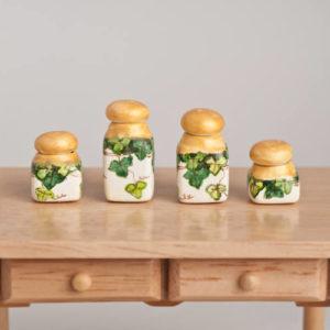 Kitchen ivy jars set of 4