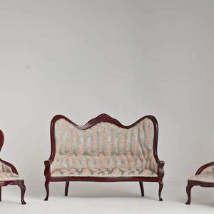 Victorian lounge set of 3