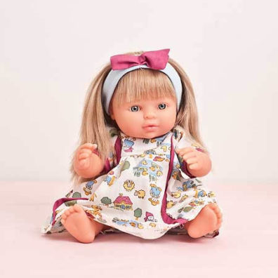 Sarah doll with pink bow