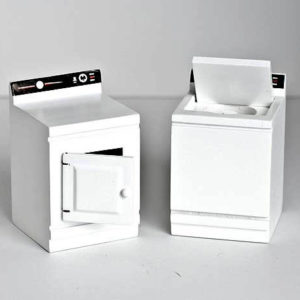 White washing machine and dryer set