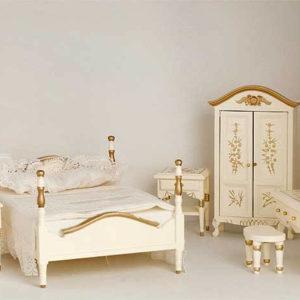 6 piece cream bedroom set