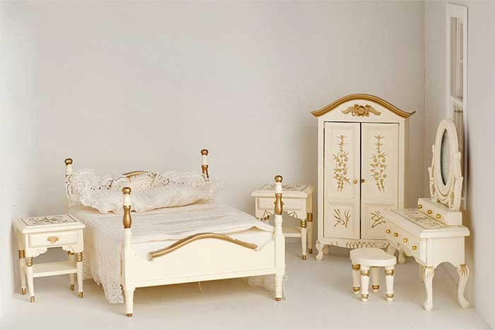 products bedroom furniture 6 piece cream bedroom set