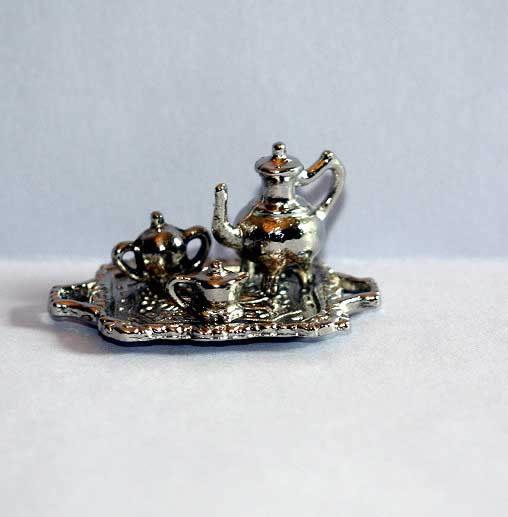 Tea set 4 piece silver