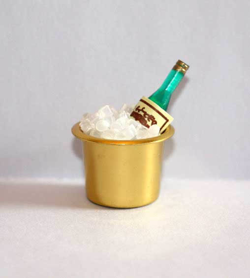 Champagne bucket with bottle