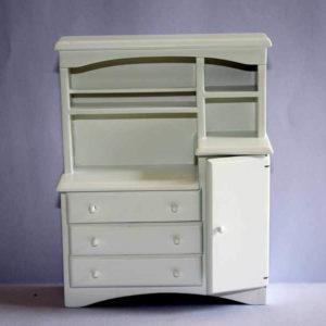 White kitchen dresser