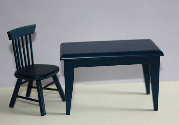 Dark blue table  only