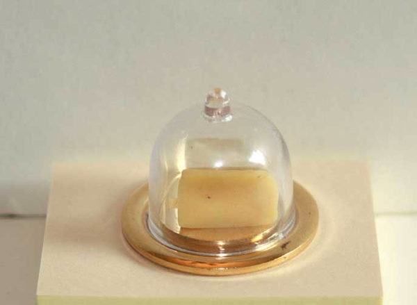 Gold metal cheese dome