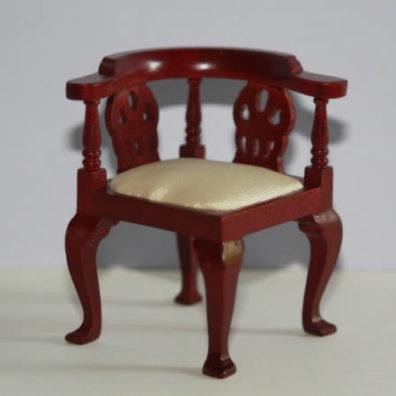 Cream silk corner chair
