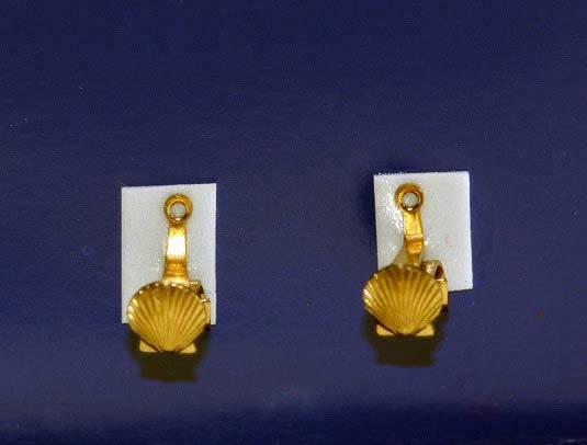 Curtain rod holders, brass