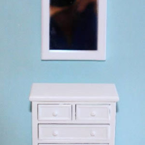 White painted dresser and mirror