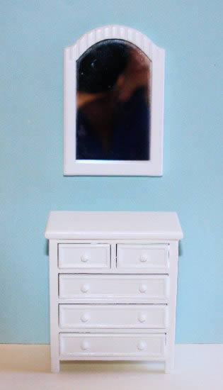 White Dresser And Mirror The Doll House