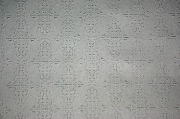 Embossed paper for metal ceilings, large pattern