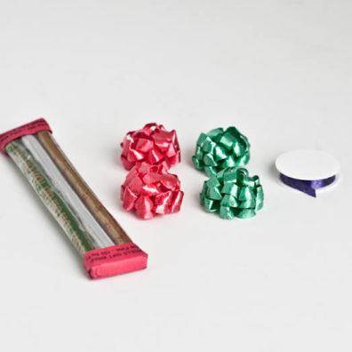 Christmas gift wrap and bows