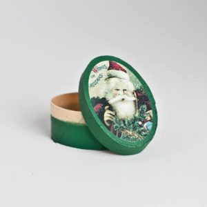 Oval Santa Christmas Box
