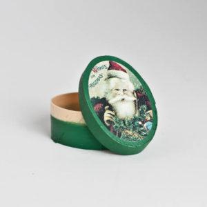 Oval Santa Christmas Box
