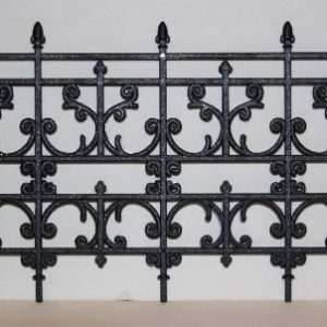 Black Plastic fencing, spike