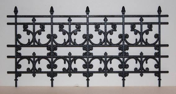 Black Plastic fencing, spike