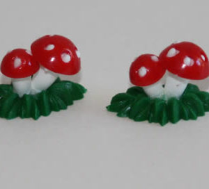 Mushrooms in Grass,  set 2