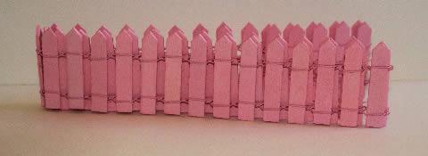 Pink picket fence-medium